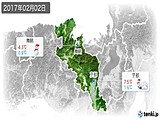2017年02月02日の京都府の実況天気