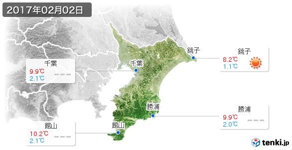 千葉県(2017年02月02日の天気