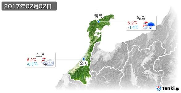 石川県(2017年02月02日の天気