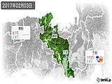2017年02月03日の京都府の実況天気