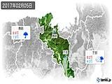 2017年02月05日の京都府の実況天気