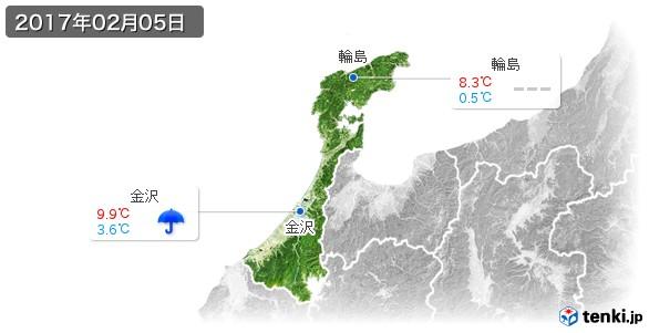 石川県(2017年02月05日の天気