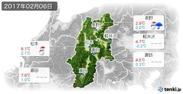 長野県(2017年02月06日の天気