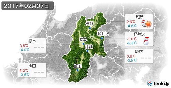 長野県(2017年02月07日の天気