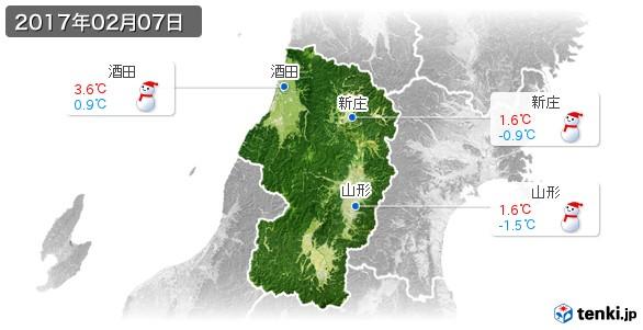 山形県(2017年02月07日の天気