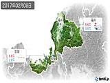 2017年02月08日の福井県の実況天気