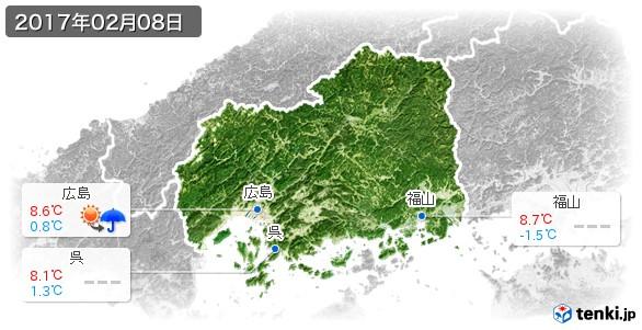 広島県(2017年02月08日の天気