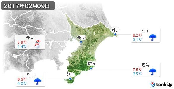 千葉県(2017年02月09日の天気