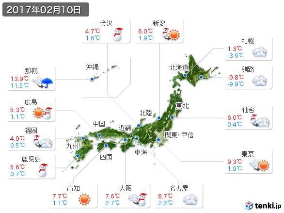 (2017年02月10日の天気
