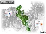 2017年02月18日の京都府の実況天気