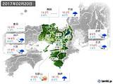 2017年02月20日の近畿地方の実況天気