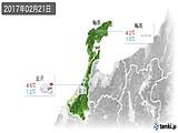 2017年02月21日の石川県の実況天気