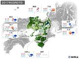2017年03月07日の近畿地方の実況天気
