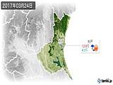 2017年03月24日の茨城県の実況天気