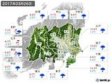2017年03月26日の関東・甲信地方の実況天気