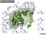2017年04月01日の関東・甲信地方の実況天気