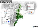 2017年05月04日の三重県の実況天気