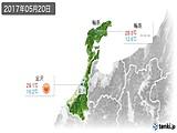 2017年05月20日の石川県の実況天気