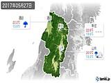 2017年05月27日の山形県の実況天気