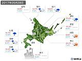 2017年05月28日の北海道地方の実況天気