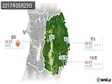 2017年05月29日の岩手県の実況天気