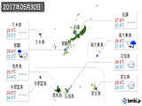 2017年05月30日の沖縄県の実況天気