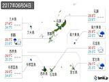 2017年06月04日の沖縄県の実況天気