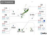 2017年06月05日の沖縄県の実況天気