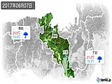 2017年06月07日の京都府の実況天気