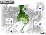2017年06月07日の兵庫県の実況天気
