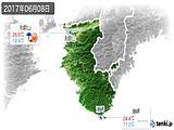 2017年06月08日の和歌山県の実況天気