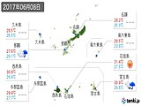 2017年06月08日の沖縄県の実況天気