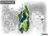 2017年06月10日の滋賀県の実況天気