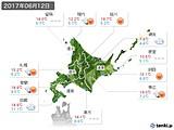 2017年06月12日の北海道地方の実況天気