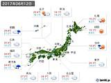 実況天気(2017年06月12日)