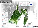 2017年06月13日の静岡県の実況天気