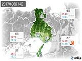2017年06月14日の兵庫県の実況天気