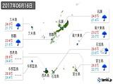 2017年06月16日の沖縄県の実況天気