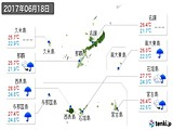 2017年06月18日の沖縄県の実況天気