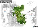 2017年06月19日の大分県の実況天気