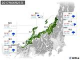 2017年06月21日の北陸地方の実況天気