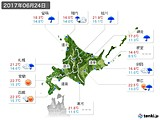 2017年06月24日の北海道地方の実況天気