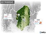 2017年06月24日の栃木県の実況天気