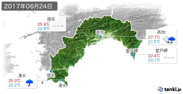 高知県(2017年06月24日の天気