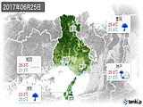 2017年06月25日の兵庫県の実況天気