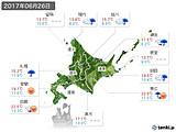 2017年06月26日の北海道地方の実況天気