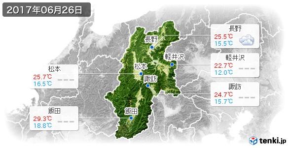 長野県(2017年06月26日の天気