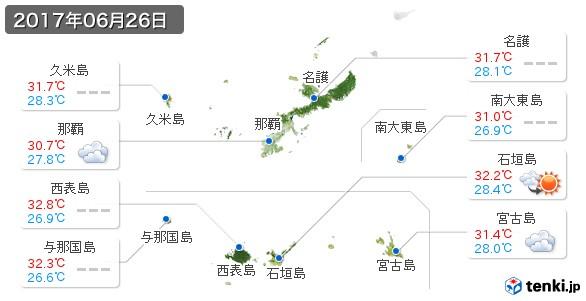 沖縄県(2017年06月26日の天気