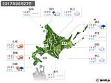 2017年06月27日の北海道地方の実況天気