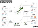 2017年06月27日の沖縄県の実況天気